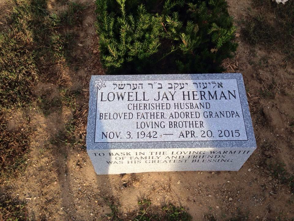 dad's headstone