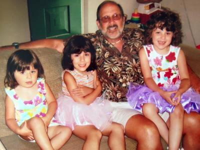 Grandpa and his granddaughters
